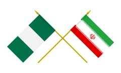 flags, iran and nigeria - stock illustration