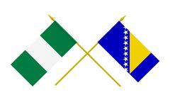 Stock Illustration of flags, nigeria and bosnia and herzegovina