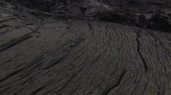 Stock Video Footage of Close ups of the volcanic ground of an island in the Galapagos.