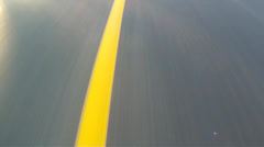 Road Line Driving Highway Stock Footage