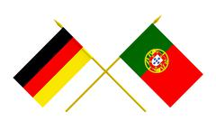 Stock Illustration of flags, germany and portugal