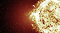 Stock Video Footage of The sun storm