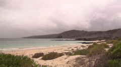 Seaview from the coast of an island in the Galápagos Stock Footage