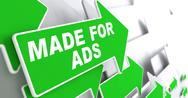 Stock Illustration of Made for Ads on Green Direction Arrow Sign.