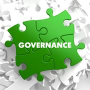 Stock Illustration of Governance - Concept on Green Puzzle.
