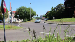 Traffic in a roundabout in time lapse Stock Footage
