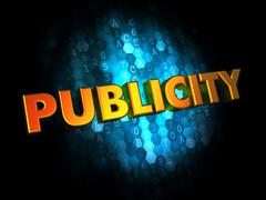 Publicity - Gold 3D Words. - stock illustration