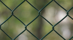 Chain link Fence Stock Footage