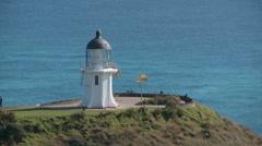 Cape Reinga Lighthouse Stock Footage
