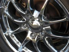 Chrome rim detail Stock Photos