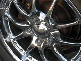 Stock Photo of chrome rim detail