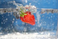 Summer Berries Plunging - stock photo