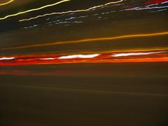 speeding light trails - stock illustration