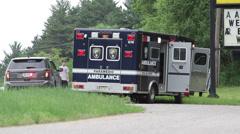 Ambulance on Scene Stock Footage