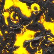 Hot molten lava,   bedrock Stock Illustration