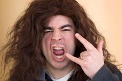 Crazy Rocker Dude Stock Photos