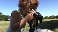 Microscope, early educational exploring Stock Footage