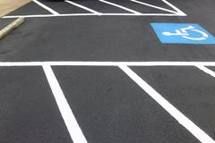 Handicapped Parking Space Stock Photos