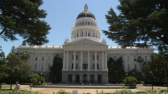 CALIFORNIA STATE CAPITOL BUILDING WIDE SACRAMENTO HD HIGH DEFINITION 1920 X 1080 Stock Footage