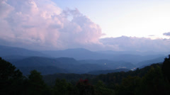 Great Smoky Mountains Lightning Awesome Shot Stock Footage
