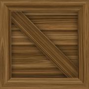 Wood Cargo Crate Stock Illustration