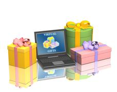 Stock Illustration of Conceptual image - virtual gifts