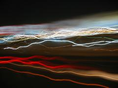 Abstract light trails Stock Illustration