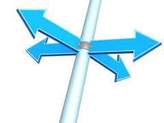 Four indexes - arrows - stock illustration