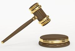 Symbol of justice - judicial 3d gavel Stock Illustration