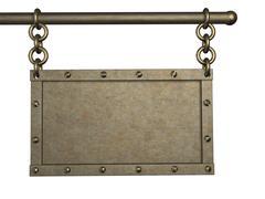 3d metal tablet - stock illustration