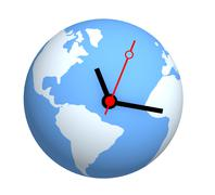 Global time - stock illustration