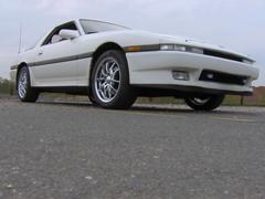 White Import Sports Car 80s Stock Photos