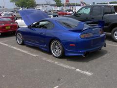 Cool Blue Import Car Stock Photos