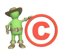 Stock Illustration of Puppet with copyright symbol