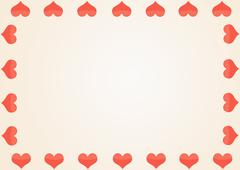 Background with a framework from red hearts Stock Illustration