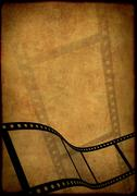 Grunge background - symbolical image of a film - stock illustration