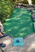 Mini Golfing Stock Photos
