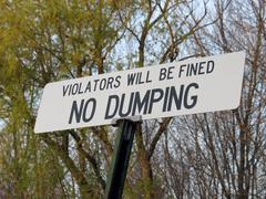 No dumping sign Stock Illustration