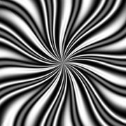 b&w Swirly Vortex - stock illustration