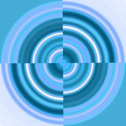 Blue Circle - Swirl Stock Illustration