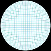 3D Grid Sphere Stock Illustration
