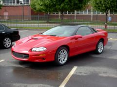 Red Chevrolet Camaro - stock photo