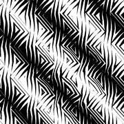 Stock Illustration of Triangular Tribal Pattern b&w
