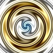 The Golden Twirl Stock Illustration
