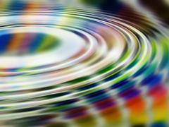 Stock Illustration of Rainbow Ripples