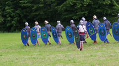 Roman soldiers are training Stock Footage
