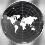 World Radar Screen Stock Illustration