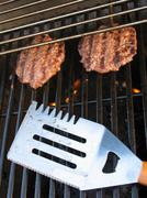 Grilled Burgers - stock photo