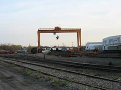 Railroad loading station Stock Photos