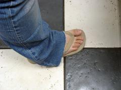 Tan flip flop Stock Photos
